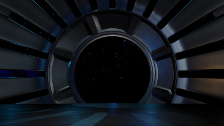 comp: Space environment, ready for comp of your characters Stock Photo