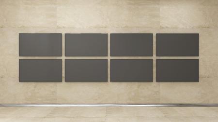 3d: TV display 3d render Stock Photo
