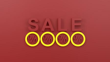 commercial activity: sale 3d render