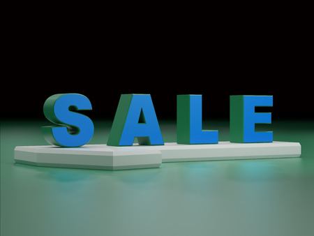 single word: sale 3d render