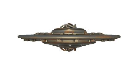 platillo volador: 3d ilustraci�n de un platillo volador