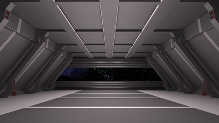 Space environment, ready for comp of your characters.3D rendering Reklamní fotografie