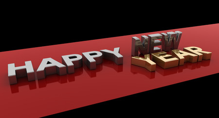happy new year,3D rendering