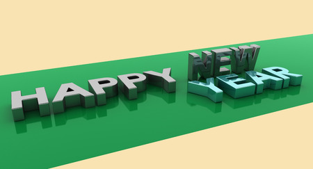 next year: happy new year,3D rendering