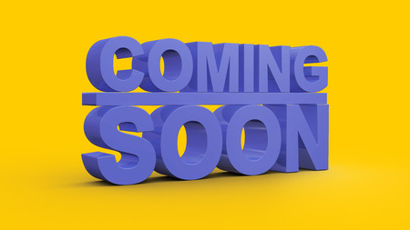 Coming soon message 3D rendering Stock Photo