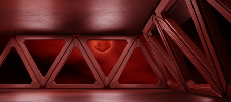 Space environment  ready for comp of your characters 3D rendering Stock Photo