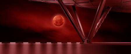 moon gate: Space environment  ready for comp of your characters 3D rendering Stock Photo