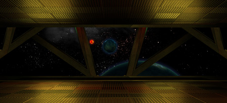 Space environment, ready for comp of your characters.3D rendering Banco de Imagens