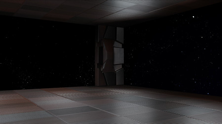 space environment, ready for comp of your characters.3d render Banco de Imagens