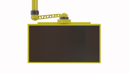 lcd: TV display 3d rendering