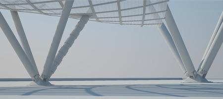 futuristic interior: White Interior Design