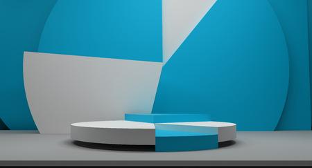 podium 3D-weergave