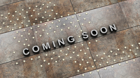coming soon 3D rendering Stock Photo
