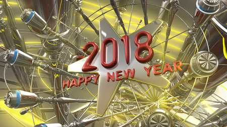 2018 New Year 3d rendering