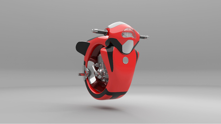 Futuristic motorcycle 3d rendering Banque d'images