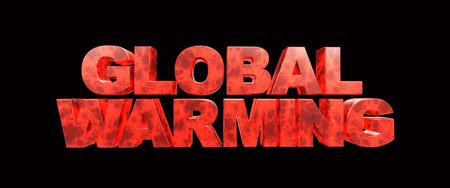 global warming 3d rendering