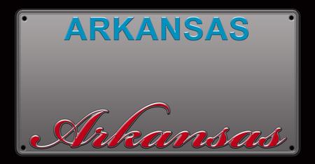 Arkansas License Plate illustration