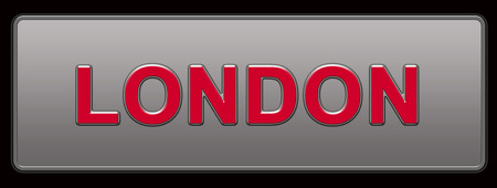 London License Plate illustration Archivio Fotografico - 109203003