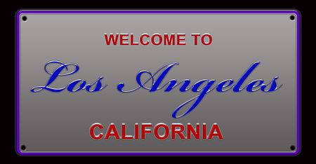 Welcome to Los Angeles License Plate illustration Stock Photo
