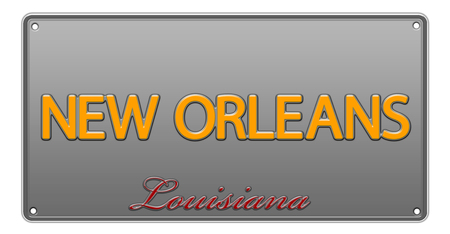 Louisiana License Plate illustration