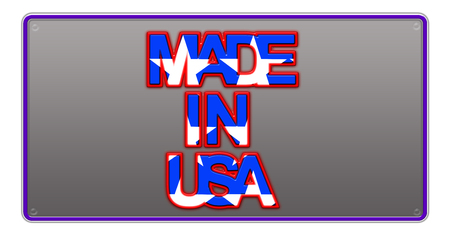 Made in USA License Plate illustration