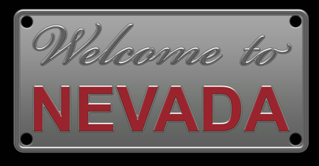 Nevada License Plate illustration
