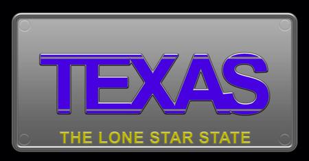 Texas License Plate illustration