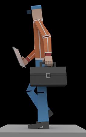 Serviceman 3d rendering Banque d'images - 114689694
