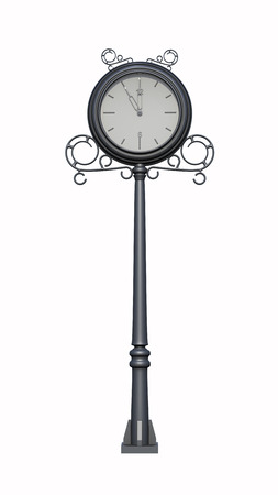 Street clock 3d rendering