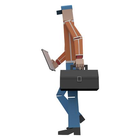 Serviceman 3d rendering Banque d'images - 114689521