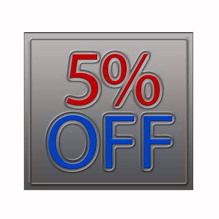 50% Off Discount Offer 3d illustration Фото со стока