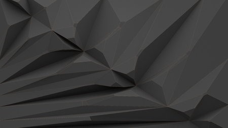 Polygon background with contrast outlines 3d rendering