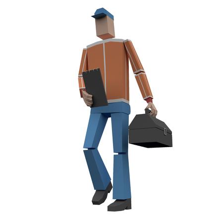 Serviceman 3d rendering