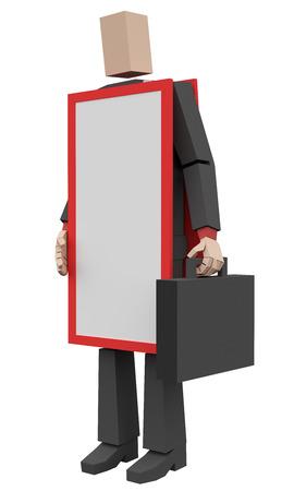 businessman sandwich 3d rendering Фото со стока