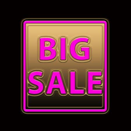 Big Sale Marketing Icon 3d illustration