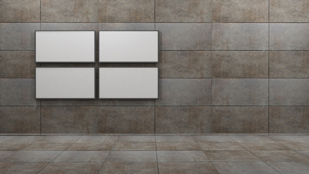 TV screen 3d rendering Фото со стока