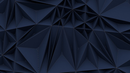 Blue triangular abstract background 3d rendering