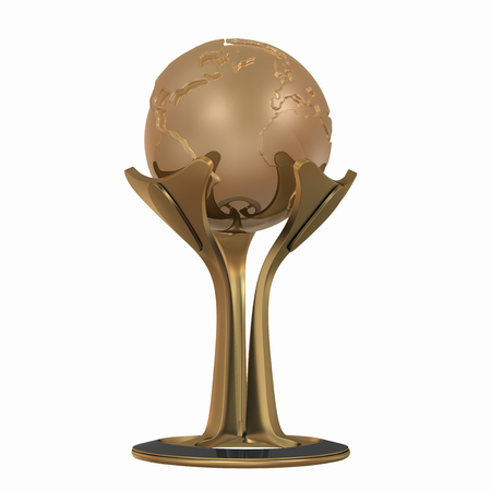 Trophy cup 3D rendering Imagens