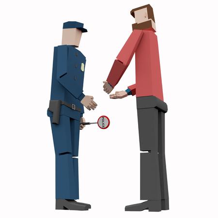 policeman 3d rendering