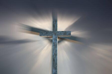 Christian cross 3d rendering