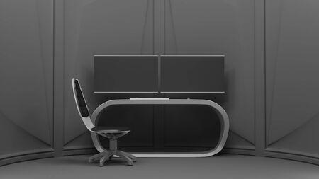 Computer workstation 3d rendering