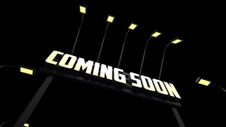 Coming Soon Road Sign 3d rendering