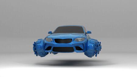 fantastic car  3d rendering