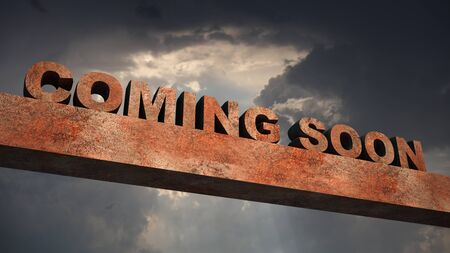 Coming Soon  Sign 3d rendering