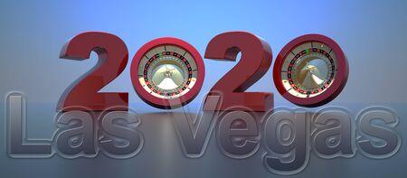 happy new year 2020,3D rendering