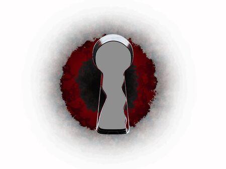 keyhole high resolution 3d rendering 写真素材