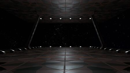 Space environment, ready for comp of your characters.3D rendering 写真素材