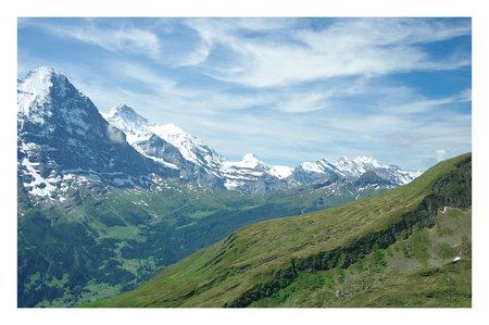 monch: mountain in row Stock Photo