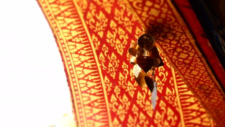 arch door in Thai temple Stock Photo - 24920626