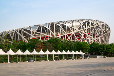 The Birds Nest is a stadium designed for use throughout the 2008 Summer Olympics and Paralympics.